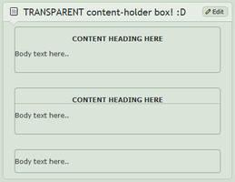 TRANSPARENT content-holder box by CypherVisor