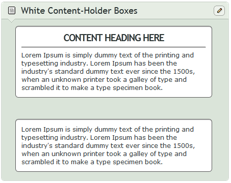 White Content-Holder Boxes by CypherVisor