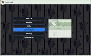 ShiaRey Profile popup image menu (commission) by CypherVisor