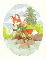 Fine Weather Fisher-Fox by moosekleenex
