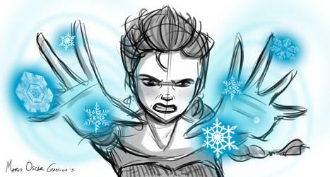 Elsa Sketch by MarioOscarGabriele