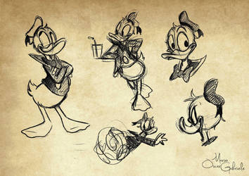 Donald sketches by MarioOscarGabriele