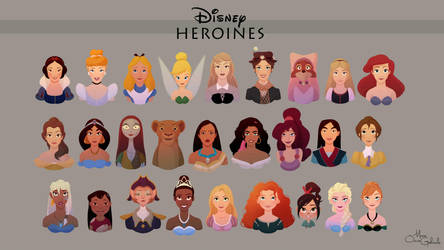 Disney Heroines Collection by MarioOscarGabriele