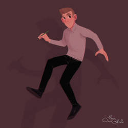 Jump (self-portrait) by MarioOscarGabriele