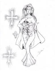 bayonetta nun by lovedark334