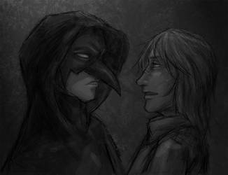 The Raven and the Wolf by omni-sama