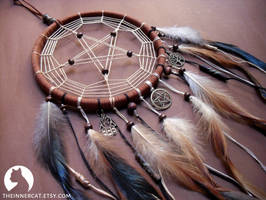 The Pentacle Dream Catcher #2 by TheInnerCat
