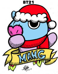 Christmas Mang -BT21- (COLOR) by AleXandria-Dellan