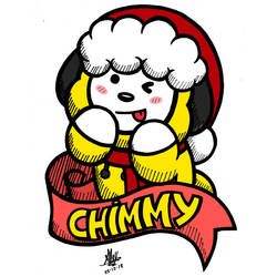 Christmas Chimmy -bt21- (color) by AleXandria-Dellan