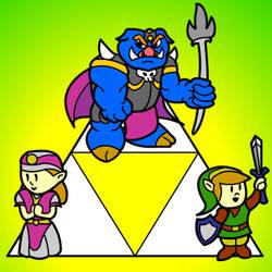 Paper Legend of Zelda by Lunar117