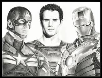 Superheroes by thewholehorizon