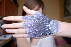 Feather hand by mrsxbenzedrine