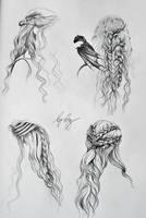 Daenerys Targaryen's hair by mrsxbenzedrine