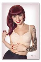 Pink bullet bra by Modelfaye