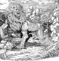 black lion by sagatt