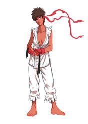 female Ryu by sagatt