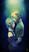 Kiss on the forehead by Renuski