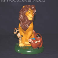 Lion King - Adult Simba bank by dapumakat