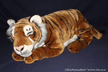 Large laying Bengal Tiger plush by E and J Classic by dapumakat