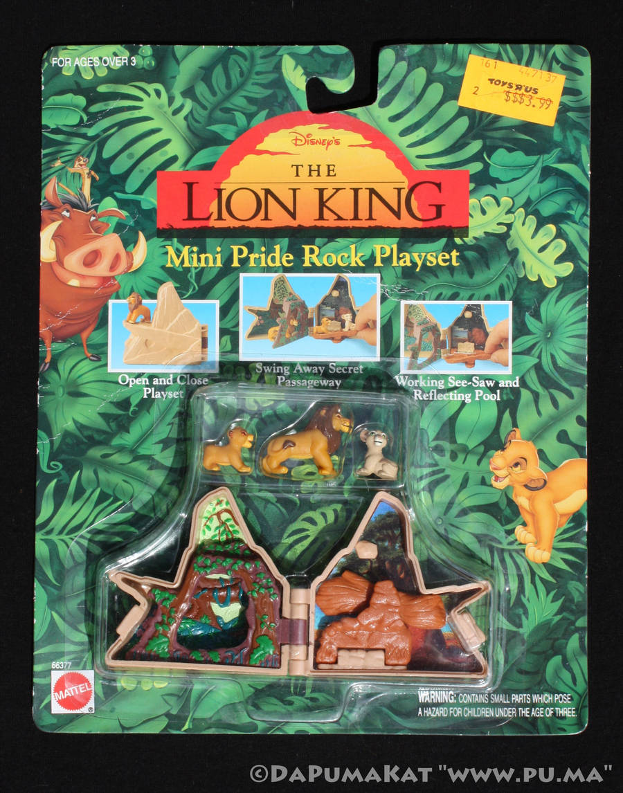 The Lion King - Mini Pride Rock Playset - 1994 by dapumakat