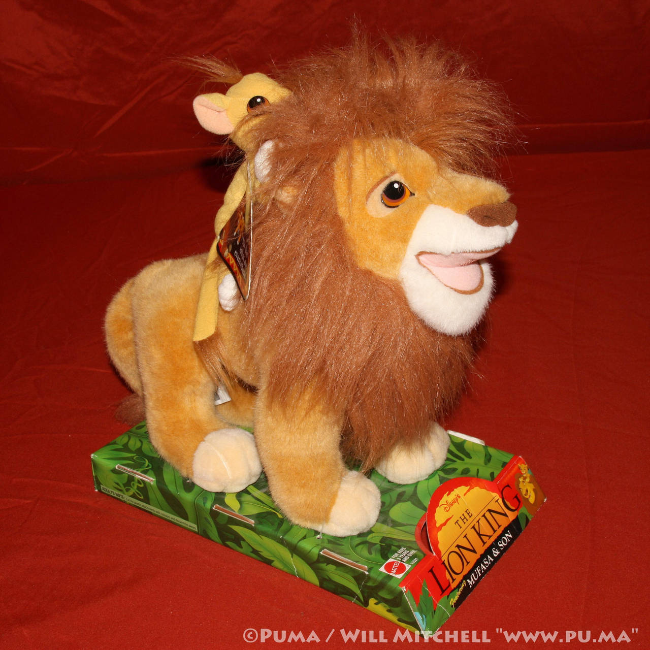The Lion King - Mufasa and Son plush by Mattel by dapumakat