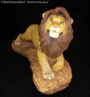 The Lion King - Adult Simba figure by Sandra Brue by dapumakat