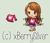 Custom C2U Shirt - Heart Maroon Sweater by xBerrySilver