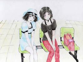 steinsgate Mayushi y Rukako by chix75