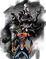 Spiderman n Symbiote Coloured by NineteenPSG