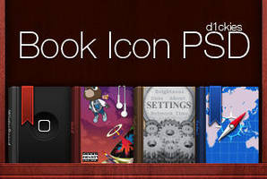 Book Icons PSD by d1ckies