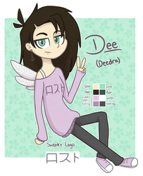 Dee [OC] Reference Sheet by Stubborn-Dreamer