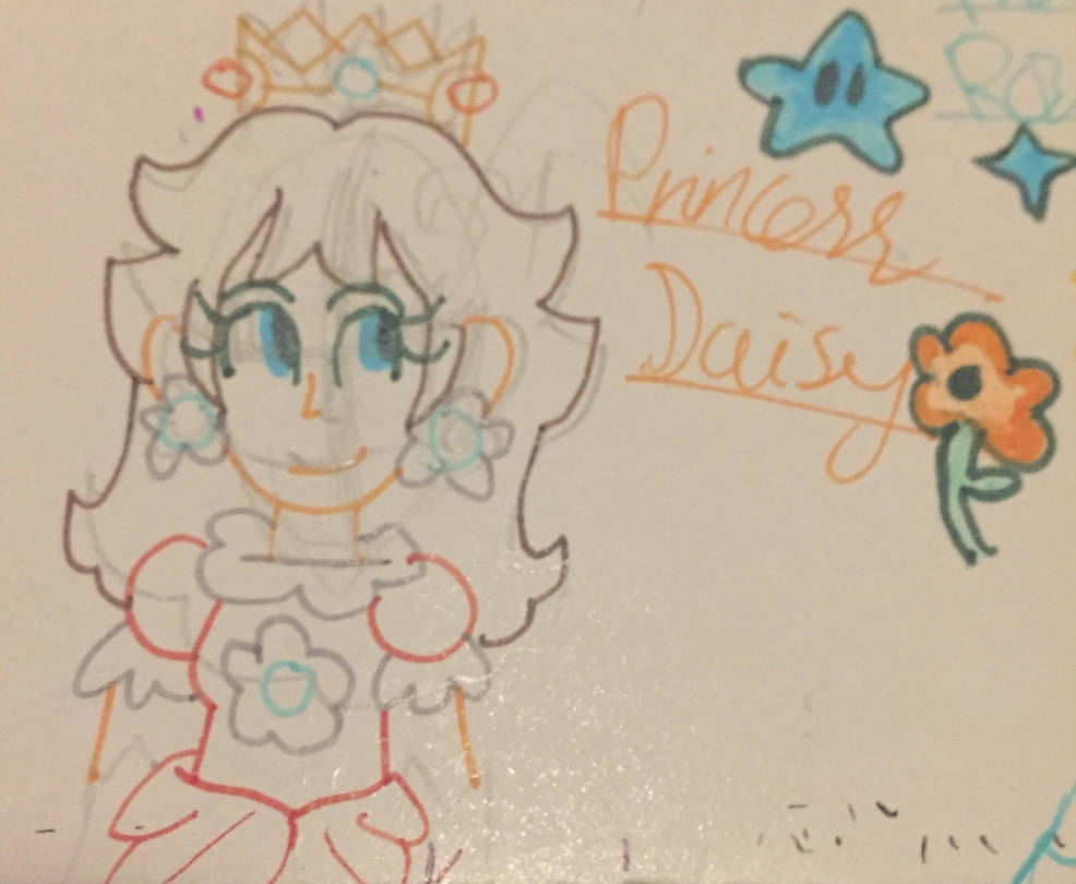 Scrap Doodle- Daisy with a Fine Liner by Daracoon911