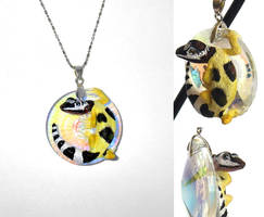 Leopard Gecko Necklace by IllusionTree