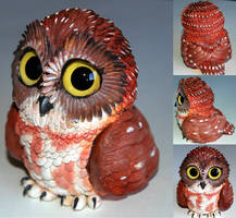 Cute Owl Sculpture by IllusionTree