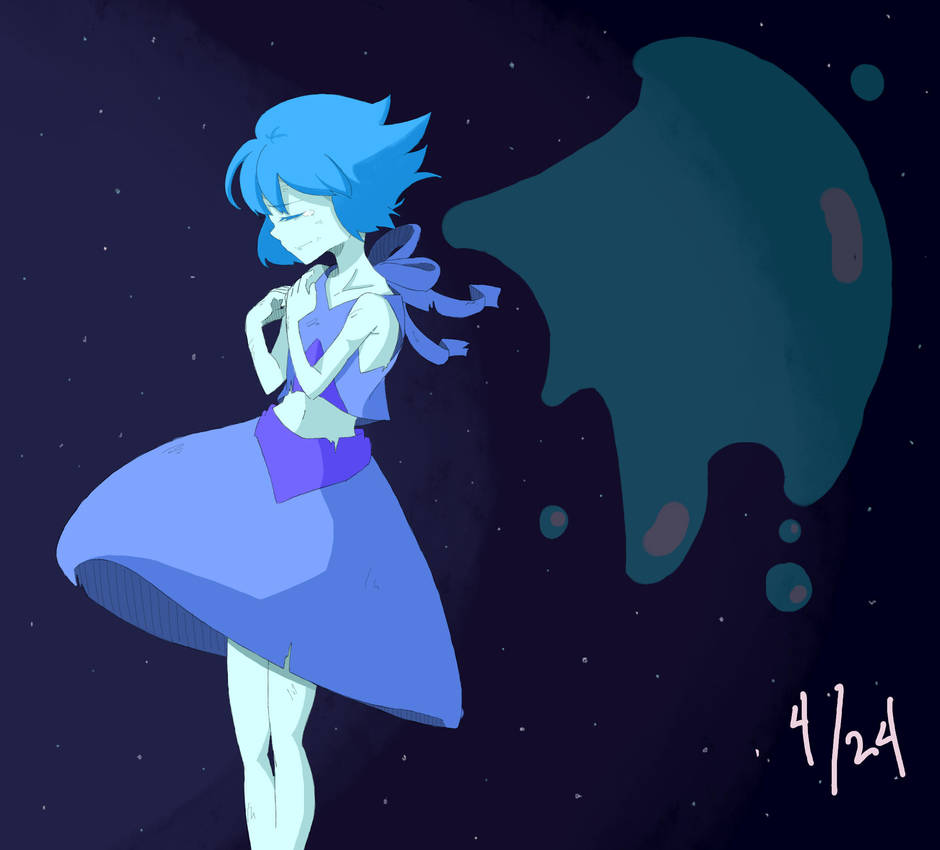 04.24.2015 Lapis Lazuli from Steven Universe. My very first cartoon fanart. I got addicted to Steven Universe because I was inspired because of some korean artist. Their fanarts look graceful. I dr...