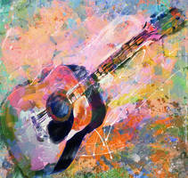 My painted guitar by DigitalHyperGFX