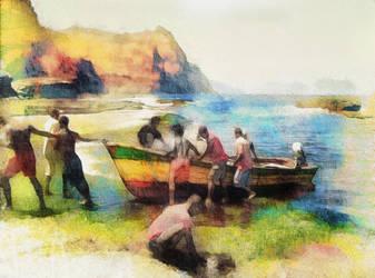 fishermen's return by DigitalHyperGFX
