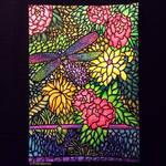 Tiffany Glass on Paper by Zentaurius