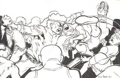 Powerman And Iron Fist--Inks by chrisbeaver