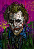 The Joker-Heath Ledger by lickmynee