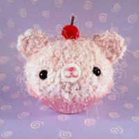 Berry Pink Cupcake bear by amigurumikingdom