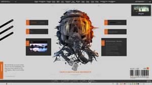 My actual desktop by iskariotA666