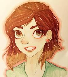 new self portrait by mox-ie