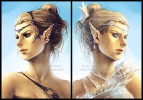 elfgirls by len-yan