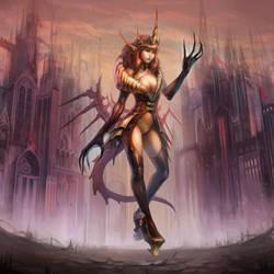 demon hands - sunset by len-yan