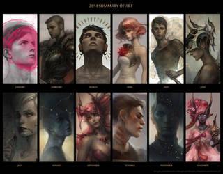 2014 summary of art by len-yan