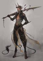 dusk daemon by len-yan