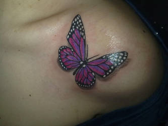 Butterfly tattoo by AntonellaDAmato