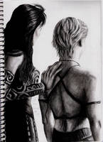 Xena and Gabrielle III by DarkButSoLovely