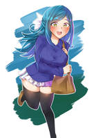 Kurumi's on a date! by KuroeArt